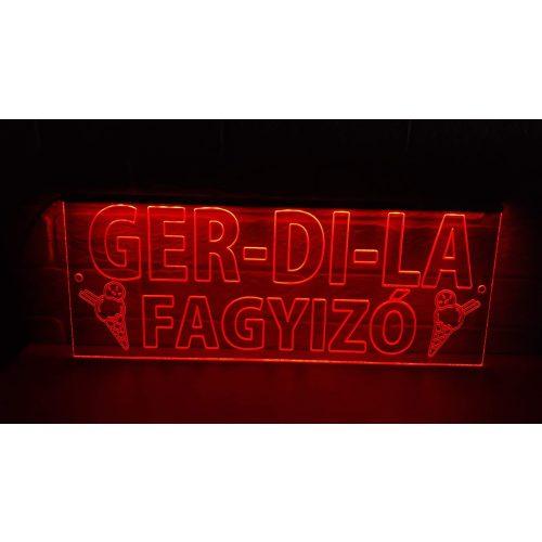 Fagyizó világító tábla egyedi felirattal