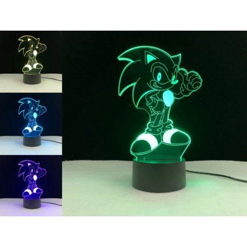 Sonic sündisznó világító 3D tábla