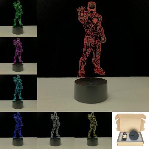 Vasember világító 3D tábla