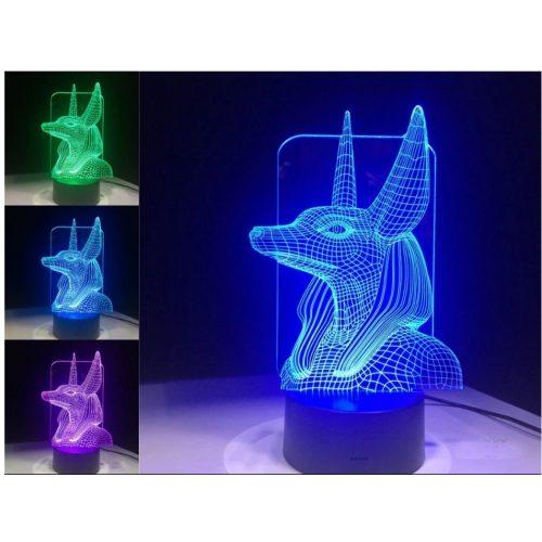 Egyiptomi jelkép világító 3D tábla