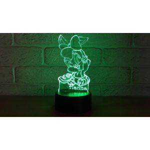 Nyuszis világító 3D tábla