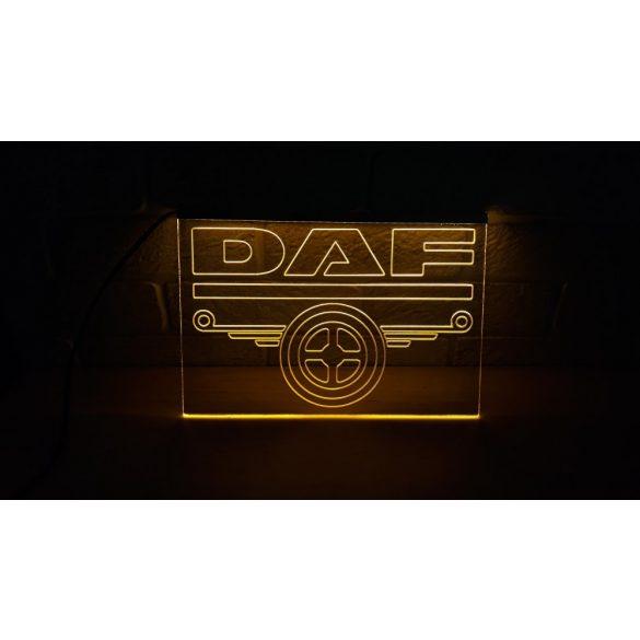 DAF világító tábla