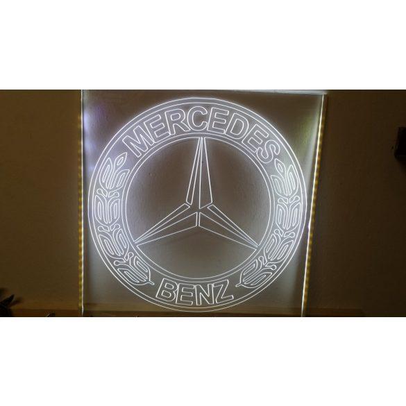 Mercedes Benz világító tábla