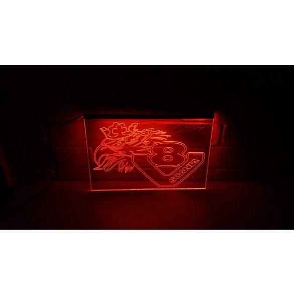 SCANIA V8 világító tábla