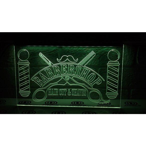 Barber Shop világító tábla