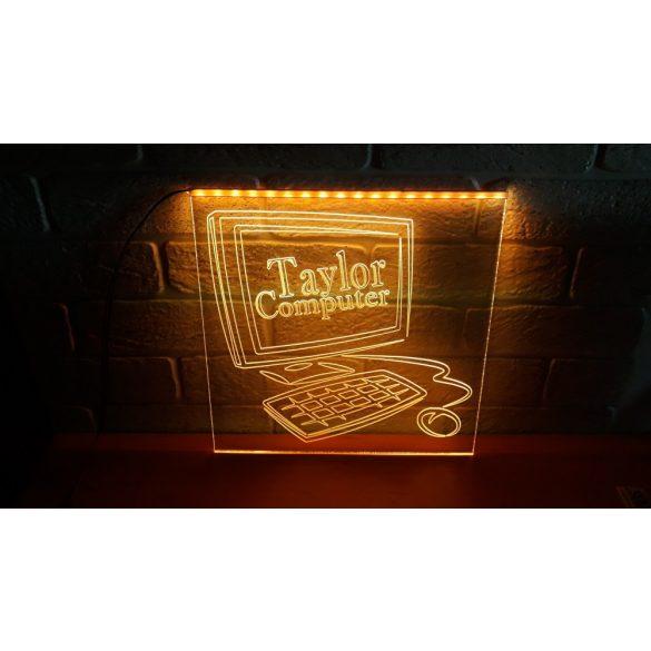 Számítástechnika világító tábla