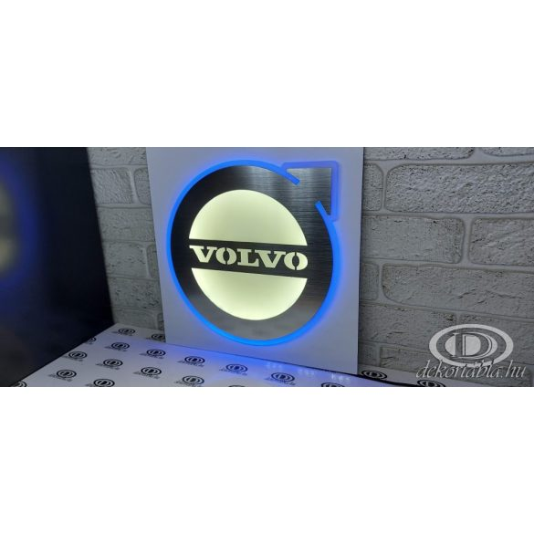 Fémhatású Világító tábla VOLVO
