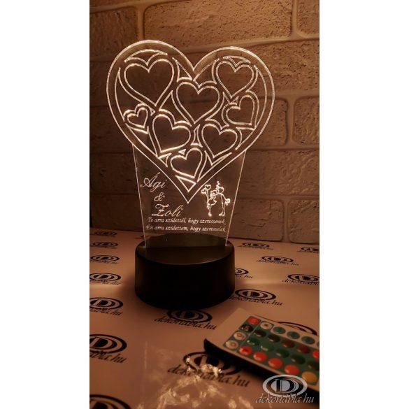 Valentin napi világító szív