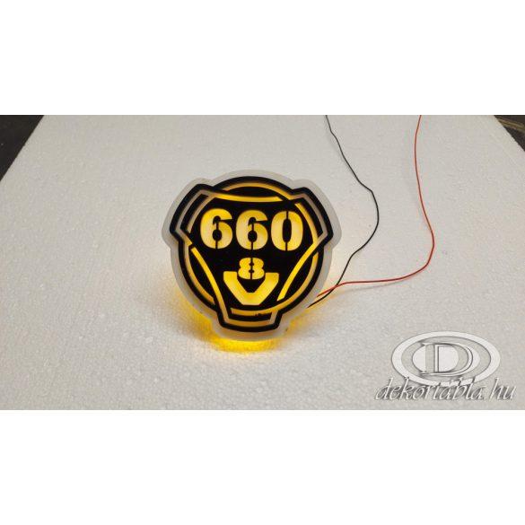 SCANIA 660 V8 világító embléma