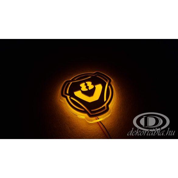 V8 világító embléma