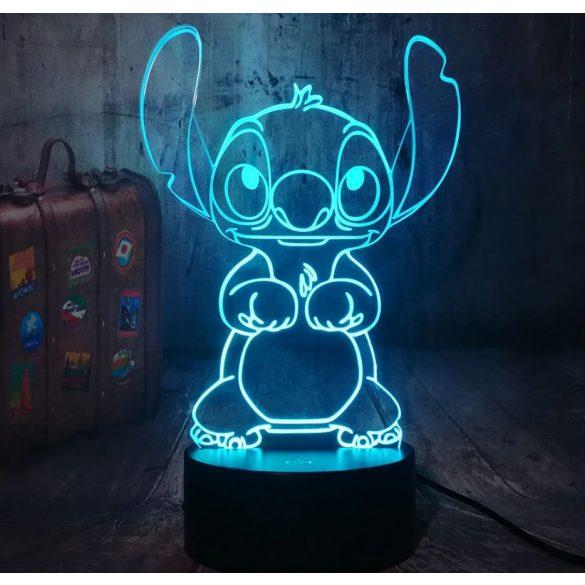 Stitch világító 3D tábla