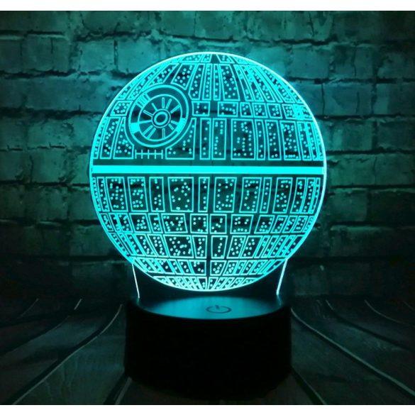 Halálcsillag világító 3D tábla
