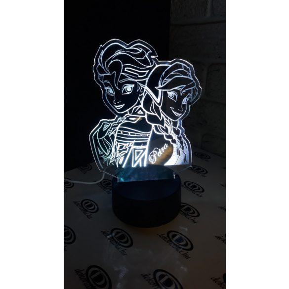 Jégvarázs világító asztali lámpatábla