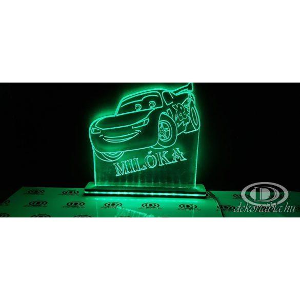 Verdás világító asztali lámpatábla