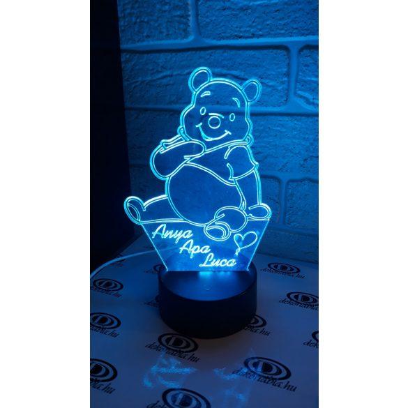 Micimackós világító asztali lámpatábla